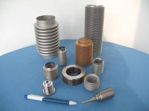 Mieszki kompensacyjne, metalowe, próżniowe, sprzęgła mieszkowe (przenoszenie napędu)