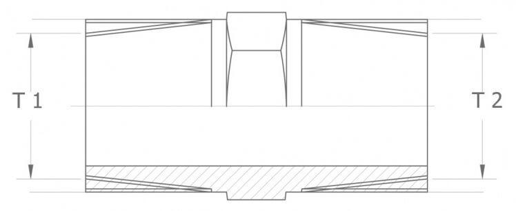 Szkic techniczny nypla