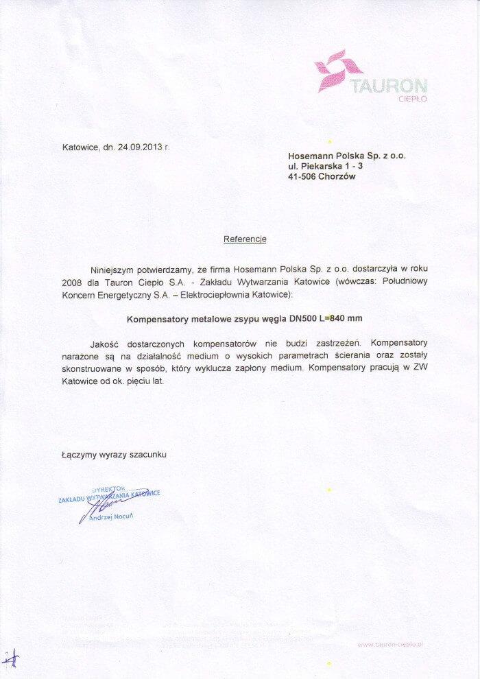 Tauron - referencja dla Hosemann Polska