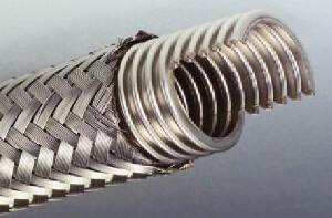Wąż metalowy niepospawany z końcówką